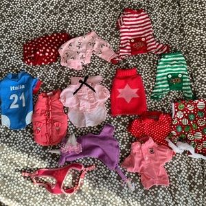 Lot of teacup XS dog clothing